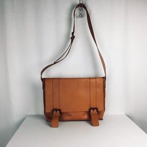 Maurizio Taiuti Brown Leather Messenger Bag Large